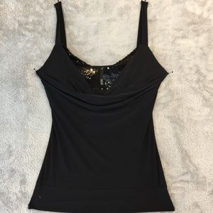 Black Tank with Black Sequins